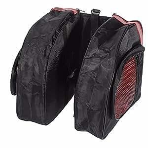 KING DO WAY - Bolsa exterior impermeable para ciclismo - Bolsa trasera lateral para bicicleta - Dimensiones: 31 x 11 x 26 cm - Color rojo y negro