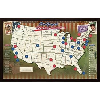 Amazon ballpark travel quest map posters prints ballpark travel quest map gumiabroncs Image collections