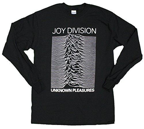 Impact Men's Joy Division 2 - Unknown Pleasures Long Sleeve Shirt, Black, XX-Large