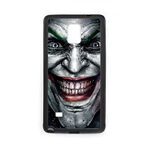 The Joker Psychedelicn Face Laugh Funda Samsung Galaxy Note 4 Funda caja del teléfono celular Negro B5G0LO Unique Durable Phone Case