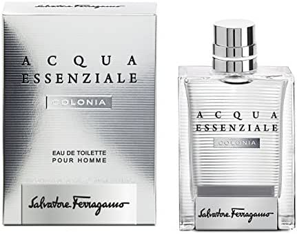 Salvatore Ferragamo Acqua Essenziale Colonia Eau de Toilette Spray for Men, 3.4 Fluid Ounce