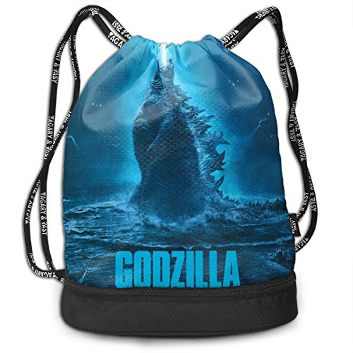 (Sheridan Reynolds Bundle Backpack God-zilla King Of The Monster Sport Gymsack Bag Drawstring Backpack)