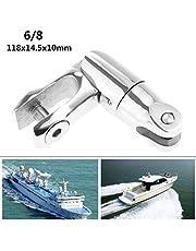 GOFORJUMP Acero Inoxidable 6-8 Pin de Anclaje de Cadena Anclaje Universal Junta giratoria Doble Accesorios para embarcaciones Herrajes Marinos