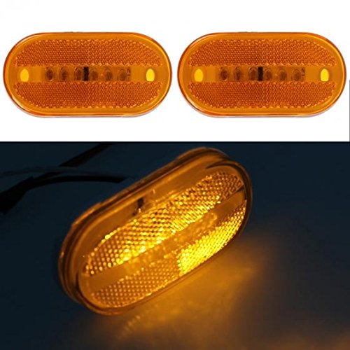 Led Trailer Lamps (partsam (2) 12V Amber 4