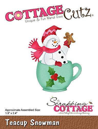 CottageCutz Die-Teacup Snowman 1.9