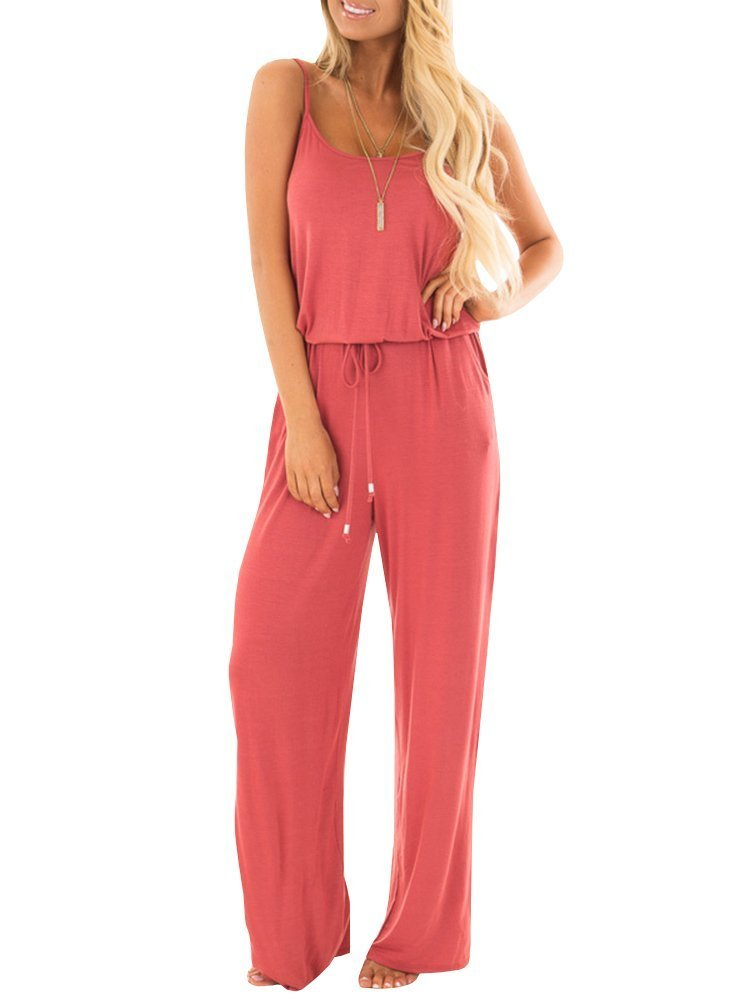Liyuandian Womens Wide Leg One Piece Jumpsuits Summer Casual Short Sleeve Elegant Rompers and Jumpsuits