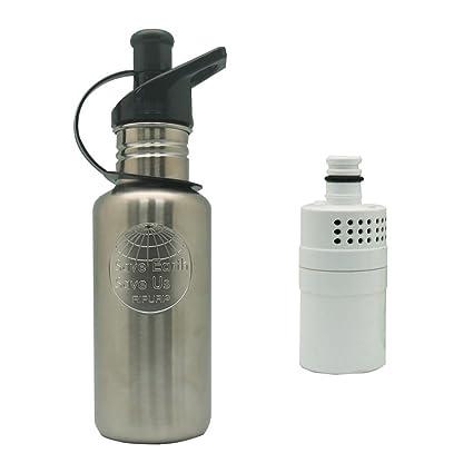 Amazon.com: Acero inoxidable Botella de agua de filtración ...