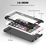 Ai-case C-134 Ultra Thin Full Body Coverage Protection Soft PC, Dual Layer, Slim Fit Case with Tempered Glass Screen Protector for iPhone 7 Plus - Green