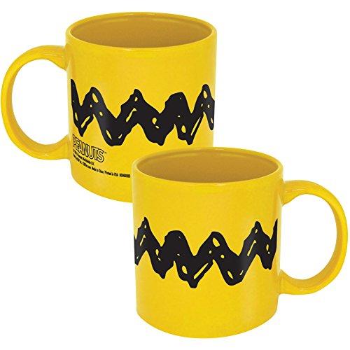(ICUP 15339 Peanuts Charlie Brown Zig Zag Ceramic Mug,)