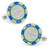 Cufflinks $500 Blue Poker Chip