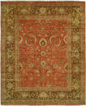 Due Process Stable Trading JI2MAHABR0GO01014 10 x 14 ft. Jinan JI2 Mahal Area Rug44; Brown & Gold from Due Process Stable Trading