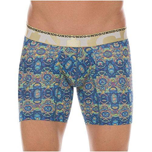 Mundo Unico Colombian Underwear Microfiber Short Boxer Briefs for Men Print Calzoncillos para Hombres Ropa Interior Masculina Medium Multicolored L