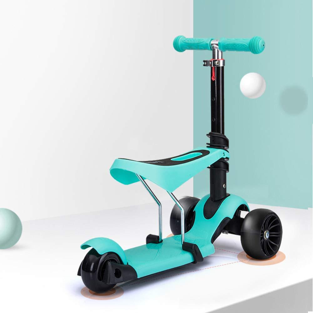 Amazon.com: K&G - Patinete 3 en 1 con 3 ruedas con asiento ...