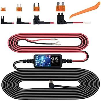 amazon com meknic dash cam hardwire kit with battery drain rh amazon com