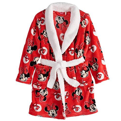 Minnie Mouse Girls Toddler Plush Fleece Bathrobe ()