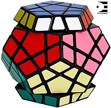 D ETERNAL 12-Axis 3-Layer Megaminx Speed Cube Pentagon Magic Rubik Rubix Puzzle Cube Brain Teaser Puzzle Game Toy