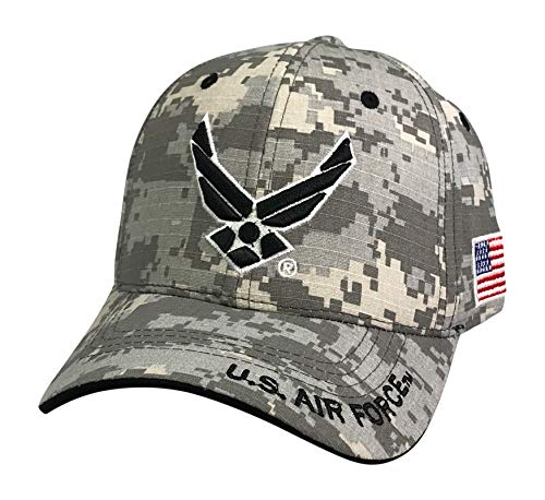 Prfcto Lifestyle Officially Licensed US AIR Force Baseball Cap Active Duty Military Hats - Caps for Air Force Veterans (Digital Camo)