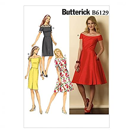 Butterick Ladies Easy Sewing Pattern 6129 Vintage Style Dresses ...