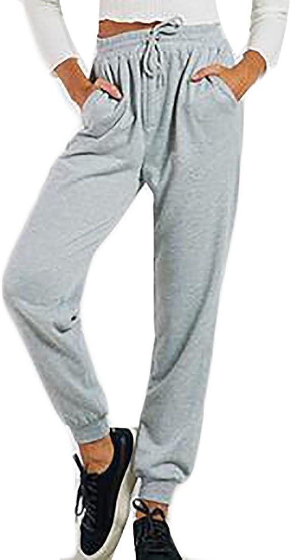 xtsrkbg Womens Casual Solid Color Activewear Drawstring Jogger Pants Sweatpants