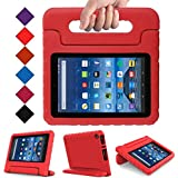 BLUEWIND All New Fire 7 2017 Case, Protective Kids Case for Fire 7 2017 Tablet (7th Generation, 2017 Release) Light Weight Shock Proof with Handle Stand Kids Case Cover for Fire 7 2017 Tablet,Red