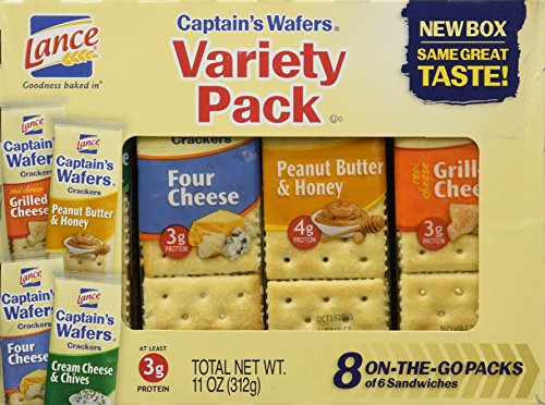 (Lance, Captain's Wafer Crackers, Variety Pack, 11oz Tray (Pack of 3))