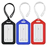 MIFFLIN Plastic Luggage Tag Holders, Various Color Baggage Tags, Travel Bag Tags