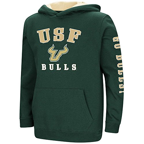 Colosseum Youth USF Bulls Pull-Over Hoodie - M