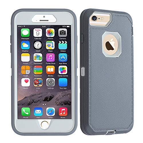 Co-Goldguard Case for iPhone 7, Heavy Duty Protection iPhone 8 Case Hard Cover Shockproof Durable Scratch-Resistant Shell, Gray&White