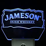Jameson Irish Whiskey Club Pub Home Bar Room Decor Day/Night Sensor Led Night Light Sign (BLUE) (Blue)