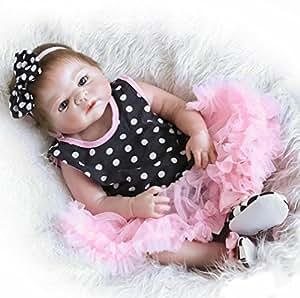 20 Full Silicone Vinyl Reborn Baby Reborn Doll Pulgadas Gel de Sílice Completo Vinilo Reconstruir Muñecas 50cm Realista Recién Nacido A la Chica Regalos de Vacaciones