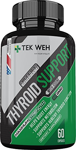 Thyroid Support Supplement with Iodine - All Natural Formula to Boost Energy, Support Metabolism, Focus & Healthy Thyroid Function