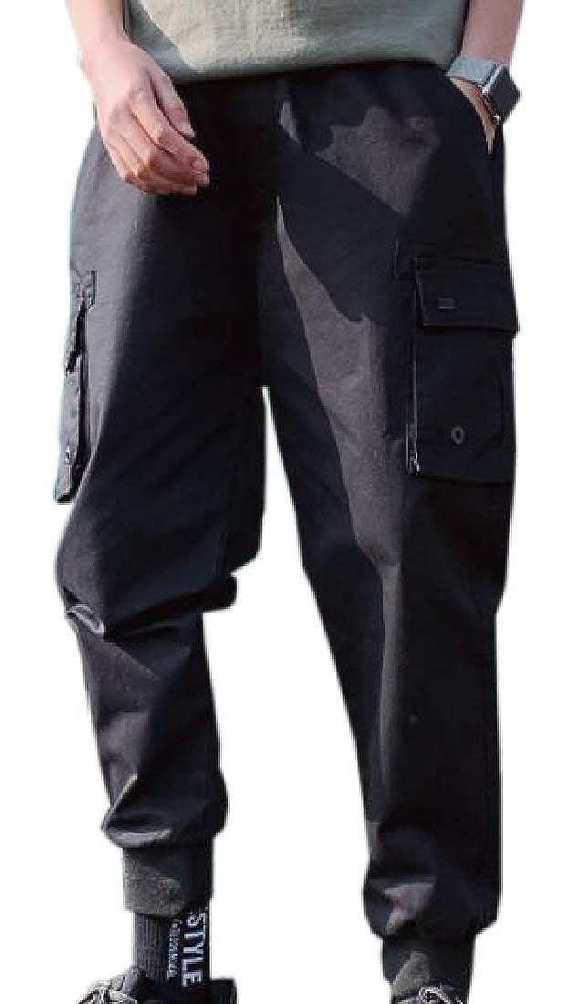Xswsy XG Mens Casual Cargo Pants Multi-Pockets Sports Fitness Work Pants