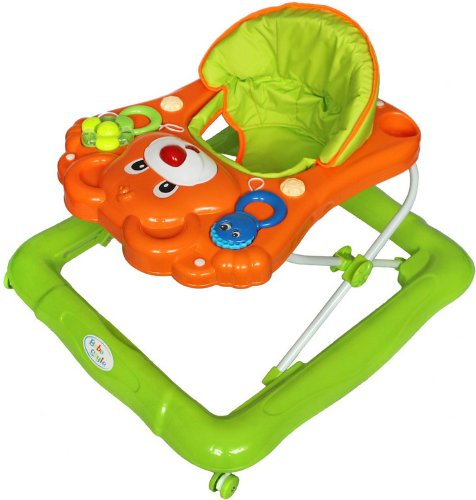 Bebe Style Deluxe Baby Walker (Orange/ Green)
