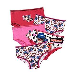 Miraculous Girls' Ladybug Underwear Pack of 5 Size 6 Multicolored