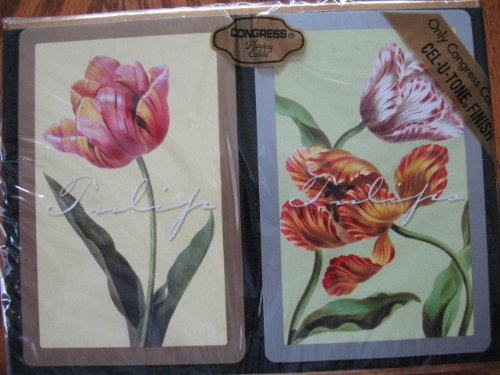 Congress Tulips Standard Index Playing Cards (Pack of 2)