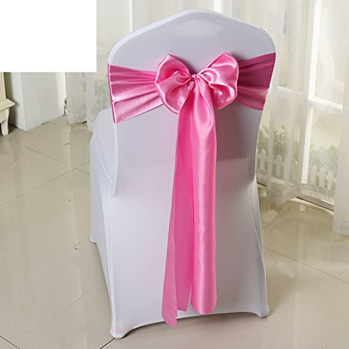 Wedding chair back cover/decorative streamers/bow ribbon-H by WXTFQB