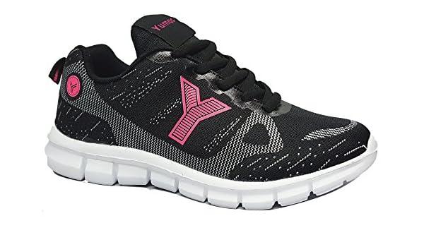 Yumas - Zapatillas de Deporte - Negro Fucsia - 37263: Amazon.es: Zapatos y complementos