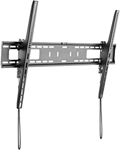 StarTech.com TV Wall Mount Supports 60-100 inch VESA Displays (165lb/75kg) - Heavy Duty Tilting Universal TV Wall Mount - Adjustable Mounting Bracket for Large Flat Screens - Low Profile (FPWTLTB1)