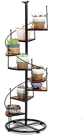 Dyfymxstand De Plantes Fer Fleur Rotin Multicouche Fleur Lit