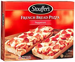 Stouffer\'s French Bread Pizza, Pepperoni, 11.25-Ounce, 12-Count Boxes
