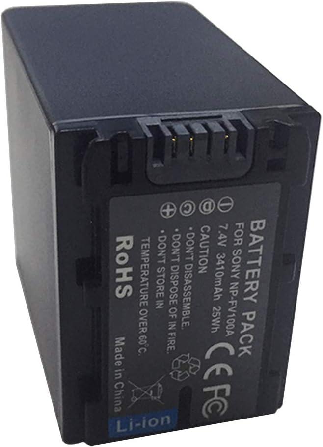 NP-FV50A NP-FV50 XITAI 7.4V 3410mAh 25Wh NP-FV100A Bater/ía de Repuesto para videoc/ámara para Sony NP-FV30 NP-FV70A NP-FV70 NP-FV100A NP-FV100