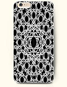 SevenArc Apple iPhone 6 Plus 5.5' 5.5 Inches Case Moroccan Pattern ( Black and White Mosaic Pattern )