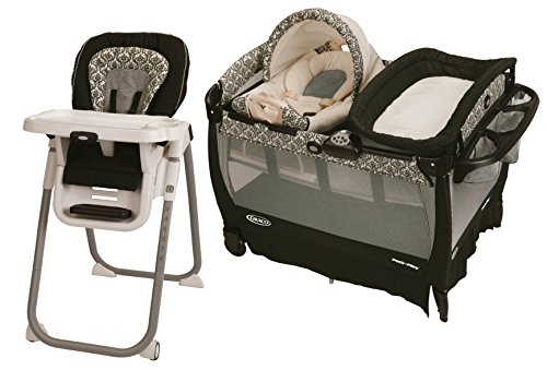 Pack 'N Play Playard with Cuddle Cove Rocking Seat with Highchair