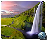 seljalandsfoss waterfall 78744 Personalized Rectangle Mouse Pad, Printed Non-Slip Rubber Comfortable Customized Computer Mouse Pad Mouse Mat Mousepad