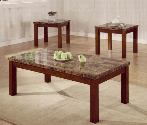 3pc-coffee-table-end-table-set-marble-top-walnut-finish