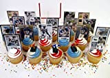 University of Pittsburgh PITT Football Birthday Party Cupcake Topper Party Favor Set
