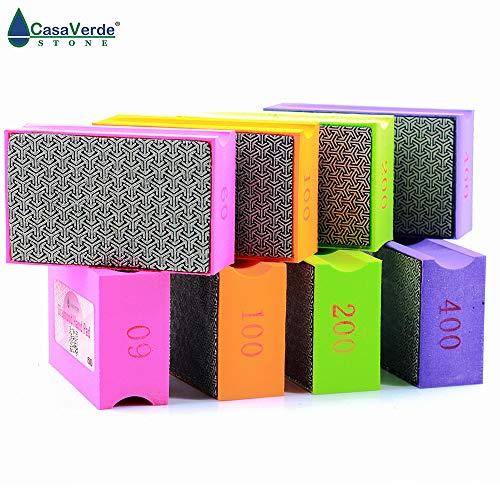Grit 60# Diamond Hand Polishing Pad 9055mm Stone Polishing Hand Wiper Glass Polish Grinding Ceramic Tile Diamond Abrasive Pads (XEHPP60) (Diamond Wiper)
