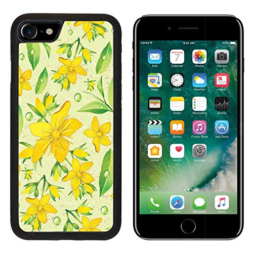 Liili Premium Apple iPhone 8 Aluminum Backplate Bumper Snap Case Elegance Seamless Beige and Hypericum with Green Tea Image ID 11289025