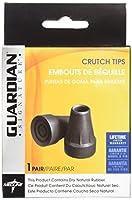 Medline G00841 Guardian Super Crutch Tip, Black, 7/8 Inch