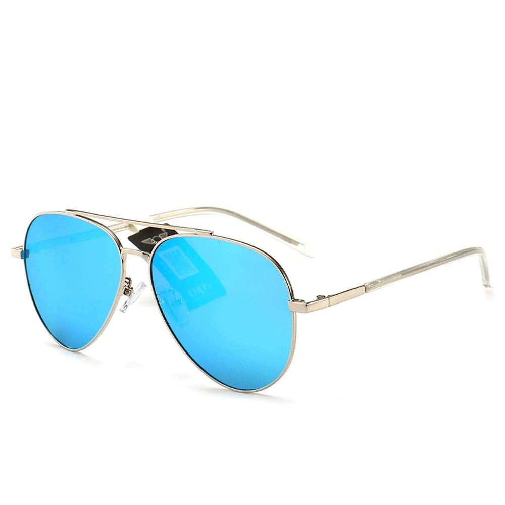 bluee Sunglasses UV Predection Vintage Oval Metal Frame UV Predection Sunglasses (color   Black, Size   Casual Size)